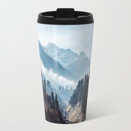 VALLEY - MOUNTAINS - TREES - RIVER - PHOTOGRAPHY - LANDSCAPE Travel Mug