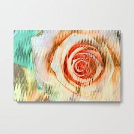 Jolted Rose Metal Print