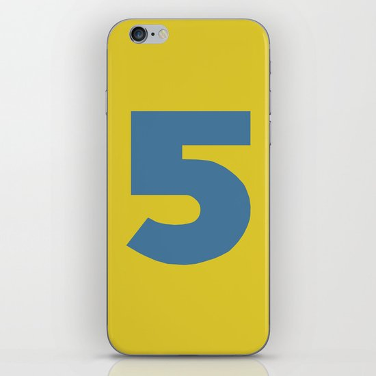 Number 5 iPhone Skin