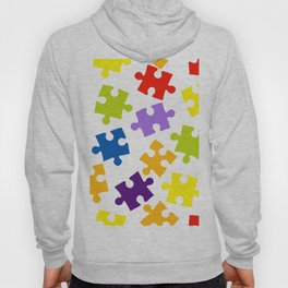 Seamless pattern with color puzzles Hoody