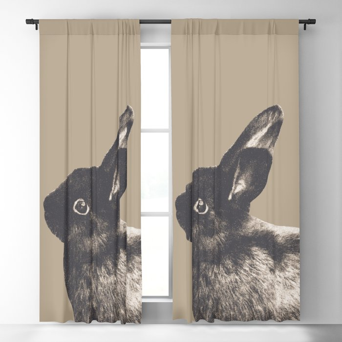 Little Rabbit on Sepia #1 #decor #art #society6 Blackout Curtain