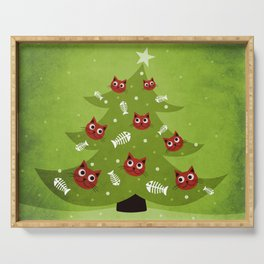 Cat Christmas Tree Serving Tray