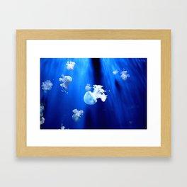 Underwater Jellyfish Framed Art Print