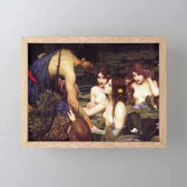 HYLAS AND THE NYMPHS - WATERHOUSE Framed Mini Art Print