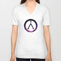stargate V-neck T-shirts featuring Stargate Galaxy by Dustin Bauer