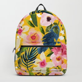 No Winter Lasts Forever; No Spring Skips It's Turn #painting #botanical Backpack