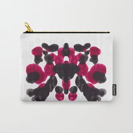 Burgundy Red Purple Ink Blot Pattern Carry-All Pouch
