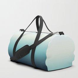 ocean sky color gradient  - blue , white , black Duffle Bag