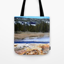 Castle Geyser-Yellowstone Tote Bag