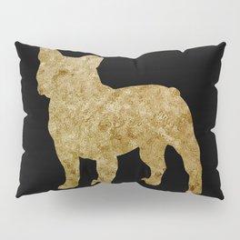Golden Frenchie on black Pillow Sham