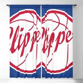 Clippers vintage baskeball logo Blackout Curtain