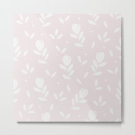 Let it bloom with tulips, floral pattern design Metal Print