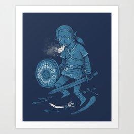 breath of the link Art Print