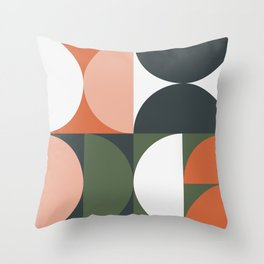 Mid Century Geometric 15 Throw Pillow