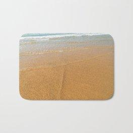 Soft Ocean Waves On Beach, Sea Wave Crushing, Beach Shore, Golden Sands, Summer Vacation Bath Mat