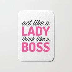 Think Like A Boss Gym Quote Bath Mat