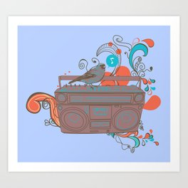 Retro Music Art Print