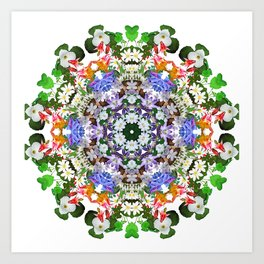 Spring wildflower mandala 2 Art Print