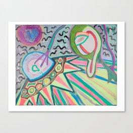 """ALIEN SNATCH"" (7001) - FLUORESCENT/GLOWS IN BLACKLIGHT Canvas Print"