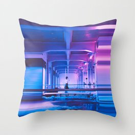 Glitchy Dreams Of You Throw Pillow