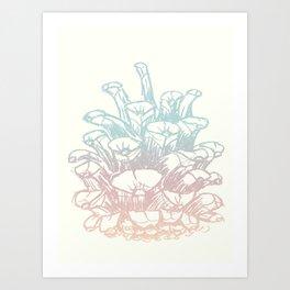 Rainbow Pine Cone Art Print