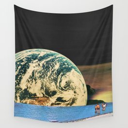 Distant beach Wall Tapestry