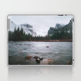 Yosemite Valley View with Fog | Yosemite National Park, CA Laptop & iPad Skin