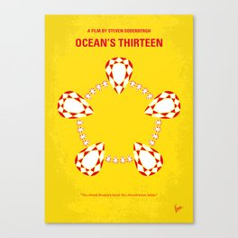 No706 My Oceans 13 minimal movie poster Canvas Print