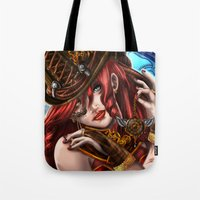 clockwork Tote Bags featuring Clockwork by KPStudios