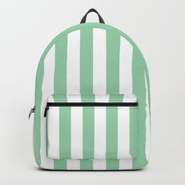 Mint Green Small Even Stripes Backpack