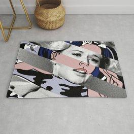 Roy Lichtenstein's Drowning Girl & Tippi Hedren in Birds Rug