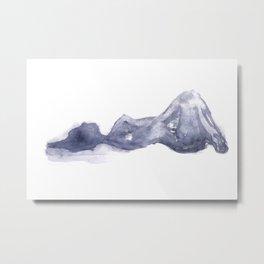 watercolor nude Metal Print