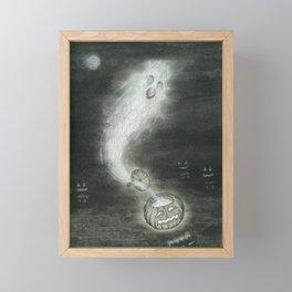 Jack O' Lantern Ghost Framed Mini Art Print