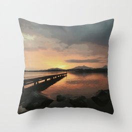 abendstimmung coastal evening Throw Pillow