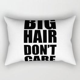 Big Hair Don't Care Rectangular Pillow