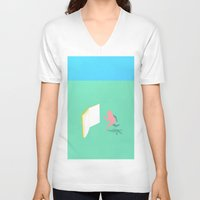 literature V-neck T-shirts featuring Exit Literature  by Dedo Mau