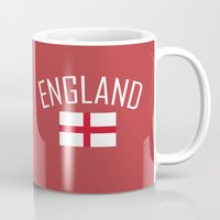 england Mugs featuring England by Earl of Grey