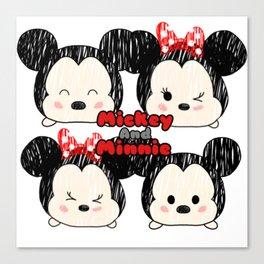 Minnie &Mickey Tsums Canvas Print