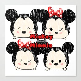 Minnie &Mickey Tsums Canvas Print