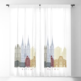 Angers skyline poster Blackout Curtain