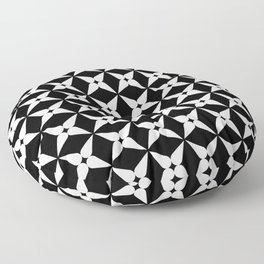 Geometric Pattern 247 (white crosses) Floor Pillow