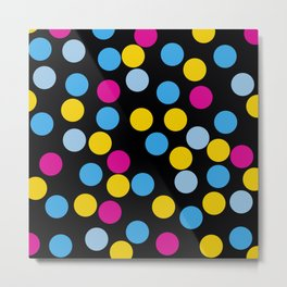 Fated - Abstract Colorful 80's Style Retro Dots Vintage Vibe Dotted Pattern Metal Print