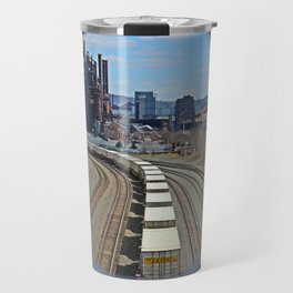 Bethlehem Steel Foundry Train Tracks Travel Mug