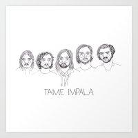 tame impala Art Prints featuring Tame Impala by ☿ cactei ☿