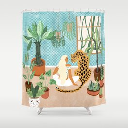 Urban Jungle #illustration #botanical Shower Curtain