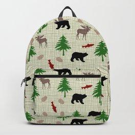 Moose & Bear Pattern Backpack