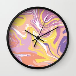 Abstract Marble Pattern 5 Wall Clock