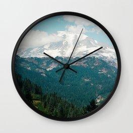 View of Mount Rainier on Film Wall Clock