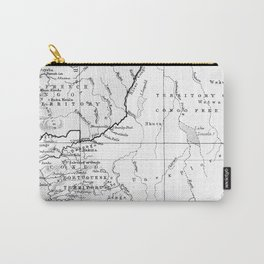 Black And White Vintage Map Of Africa Carry-All Pouch