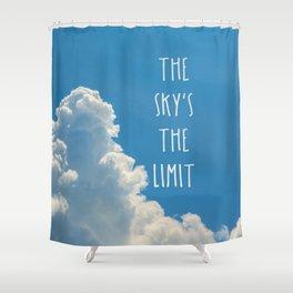 Sky's the limit - cloudscape Shower Curtain